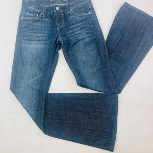 American Eagle Womens Jeans 2 Blue Slim Flare Bell